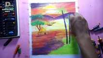 How to draw beautiful Dream Scenery with oil pastels! ‍Credit: Art