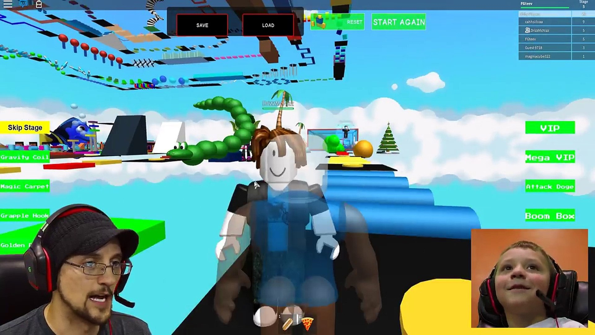 Escape Santa Obby Roblox 13 Minecraft Lucky Block Race Challenge