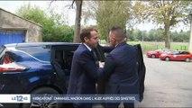 Inondations : Emmanuel Macron dans l'Aude auprès des sinistrés