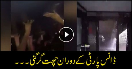 Roof collapsed while a dance program