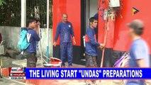 The living start Undas preparations