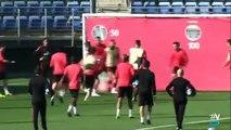 Vídeo: Sérgio Ramos reage mal a entrada de jovem da cantera e atira-lhe duas boladas