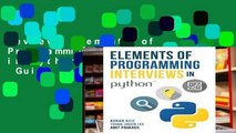 Review  Elements of Programming Interviews in Python: The Insiders  Guide