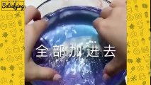 MIXING PIGMENTS JIGGLY WATER SLIME l Most Satisfying Jiggly Water Slime ASMR Compilation 2018