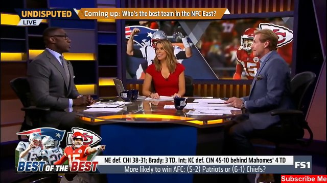 More likely to win AFC: (5-2) Patriots or (6-1) Chiefs? | Undisputed