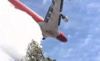 Ce que ça fait de se retrouver sous un largage d'un avion bombardier d'eau