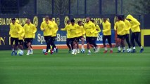 Dortmund train ahead of  facing Atletico Madrid in UCL