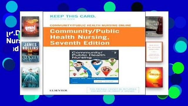 [P.D.F] Community/Public Health Nursing Online for Nies and Mcewen - Community/Public Health