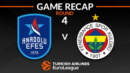 EuroLeague 2018-19 Highlights Regular Season Round 4 video: Efes 89-83 Fenerbahce