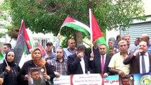 Lübnan'da, açlık grevindeki Filistinli tutuklulara destek gösterisi - BEYRUT
