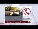 Se fugan 29 reos de penal en Tamaulipas