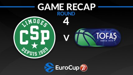7Days EuroCup Highlights Regular Season, Round 4: Limoges 89-81 Tofas Bursa