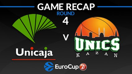 7Days EuroCup Highlights Regular Season, Round 4: Unicaja 82-80 UNICS