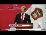 Primer mensaje de Alfredo Del Mazo como Gobernador de Edomex