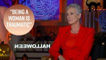 Jamie Lee Curtis gets emotional talking about trauma in 'Halloween'