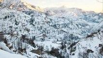 Jammu and Kashmir Pir Panjal Range receives fresh snowfall | OneIndia News