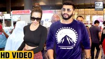 Malaika Arora And Arjun Kapoor Click Selfies With Fans At The Airport