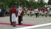 Prince Harry lays wreath in honour of Fijian war veterans