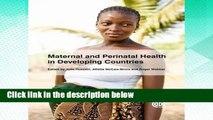 F.R.E.E [D.O.W.N.L.O.A.D] Maternal and Perinatal Health in Developing Countries [A.U.D.I.O.B.O.O.K]