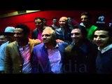 العرض الخاص لفيلم حسن وبقلظ |   صورة جماعية لنجوم الفيلم كلهم من داخل قاعة العرض