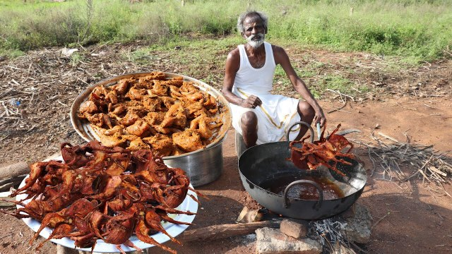 ANGRY BIRD FRY !!! Quail Fry Prepared by my Daddy Arumugam Village food factory