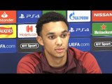 Trent Alexander-Arnold Pre-Match Press Conference - Liverpool v Red Star Belgrade - Champions League
