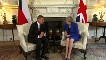 Theresa May hosts Czech Prime Minister Andrej Babiš