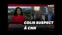 Les images des employés de CNN évacués à cause d'un colis suspect