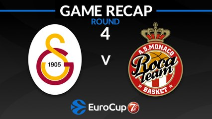 7Days EuroCup Highlights Regular Season, Round 4: Galatasaray 85-86 Monaco