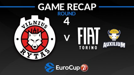 7Days EuroCup Highlights Regular Season, Round 4: Rytas 86-79 Fiat Turin
