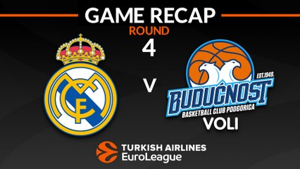 EuroLeague 2018-19 Highlights Regular Season Round 4 video: Madrid 89-55 Buducnost