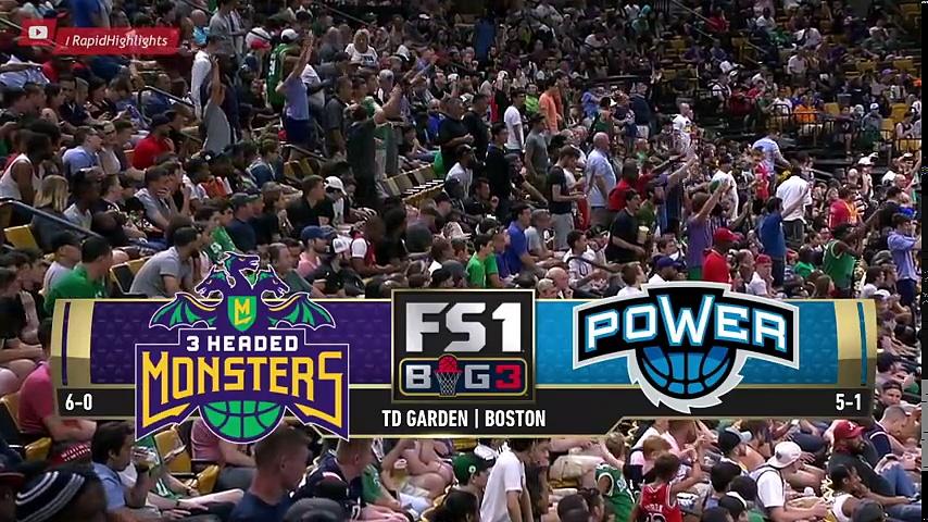 3 Headed Monsters vs Power – Full Game Highlights   Week 7   Aug 3, 2018   BIG 3 Basketball