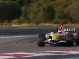Loeb Renault F1 Castellet Kovalainen WRC C4 Total