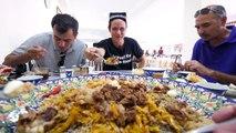 Uzbek Food Tour in Samarkand - GIANT PLATTER and 21 METER Kebab Grill in Uzbekistan!