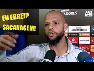FELIPE MELO FICOU PISTOLA E INVADIU ENTREVISTA DE DEYVERSON - Boca x Palmeiras 25/10/2018