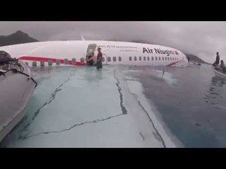 Rescue operation after plane crashes into water in Micronesia