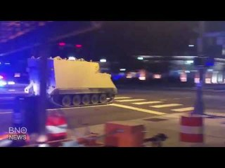 Police in Pursuit of Armored Military Vehicle in Virginia