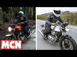 Royal Enfield Continental GT & Interceptor ridden | Motorcyclenews.com