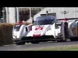 Le Mans winner hillclimb - Audi R18 e-Tron and Lotterer at Festival of Speed