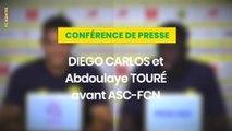 Diego Carlos et Abdoulaye Touré avant Amiens SC - FC Nantes