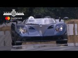 Horacio Pagani drives €15million Pagani Zonda Barchetta at FOS