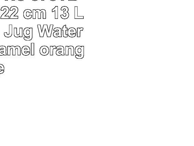 Coffee can No 578TB enamelled 22 cm 13 L Water can Jug Watering can Enamel orange