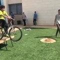 Biker Flips over Handlebars After Failed Ramp Jump