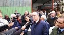 Visite du ministre de l'agriculture Didier Guillaume dans la Meuse