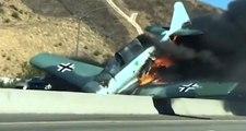 2. Dünya Savaşı'ndan Kalan Gösteri Uçağı Otoyola Çakıldı