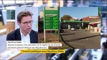 """Pour Geoffroy Didier, le blocage des routes contre la hausse des prix du carburant """"n'est jamais le mot d'ordre des Républicains""""."""