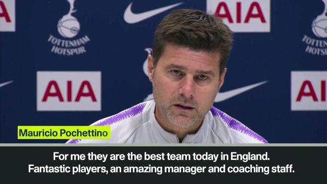 Eng Sub: Pochettino waxes lyrical about Guardiola's Manchester City