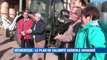 A la Une : face au Préfet les agriculteurs de la Loire ont témoigné de leurs difficultés face à la sécheresse. Ils demandent un plan d'urgence au Gouvernement.