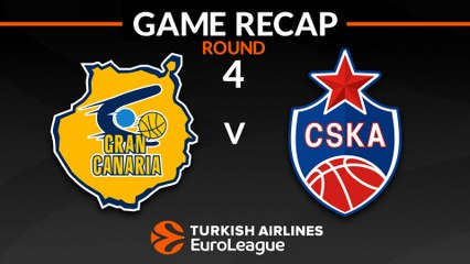 EuroLeague 2018-19 Highlights Regular Season Round 4 video: Gran Canaria 91-106 CSKA
