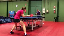 Tennis de table (Ligue des Champions) : entraînement matinal d'Etival à Carthagène